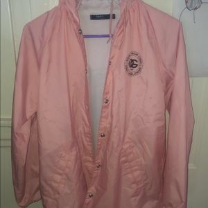 Pink obey windbreaker (good condition)